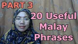 [LEARN MALAY] 135-20 Useful Malay Phrases(PART 3)