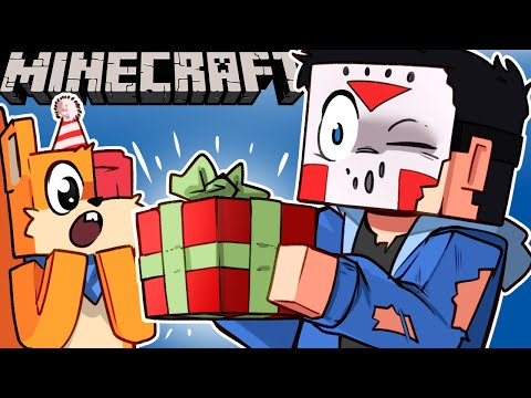 I GAVE THE BEST PRESENT EVER?!?!.. DEADSQUIRREL'S BIRTHDAY ON MINECRAFT!!! - Ep. 11!
