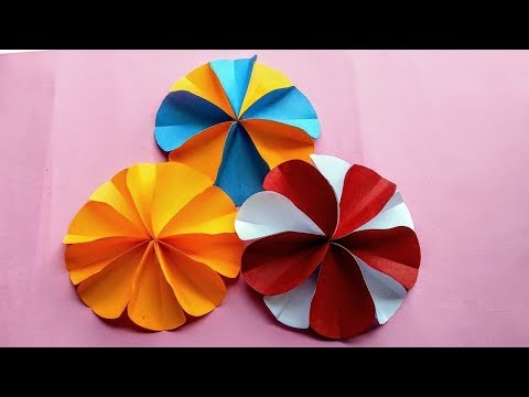 Paper Flower Making Tutorial-DIY Circle paper flower decoration Ideas