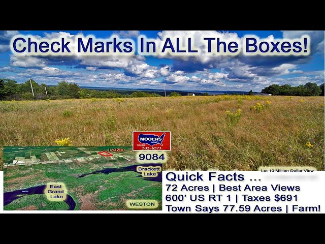 Million Dollar View Land In ME Video | Maine Real Estate MOOERS REALTY 9084