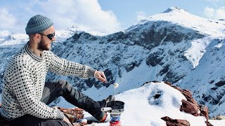 melted swiss cheese fondue on a mountain top / Ibex and chamois / slow tv nature