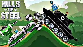 Hills Of Steel Update - TESLA Tank BOOSTER vs LASERJAW Boss Level | Game For Kids FHD