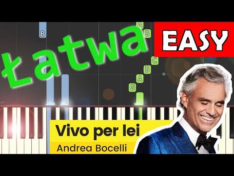 🎹 Vivo per lei (Andrea Bocelli) - Piano Tutorial (łatwa wersja) 🎹