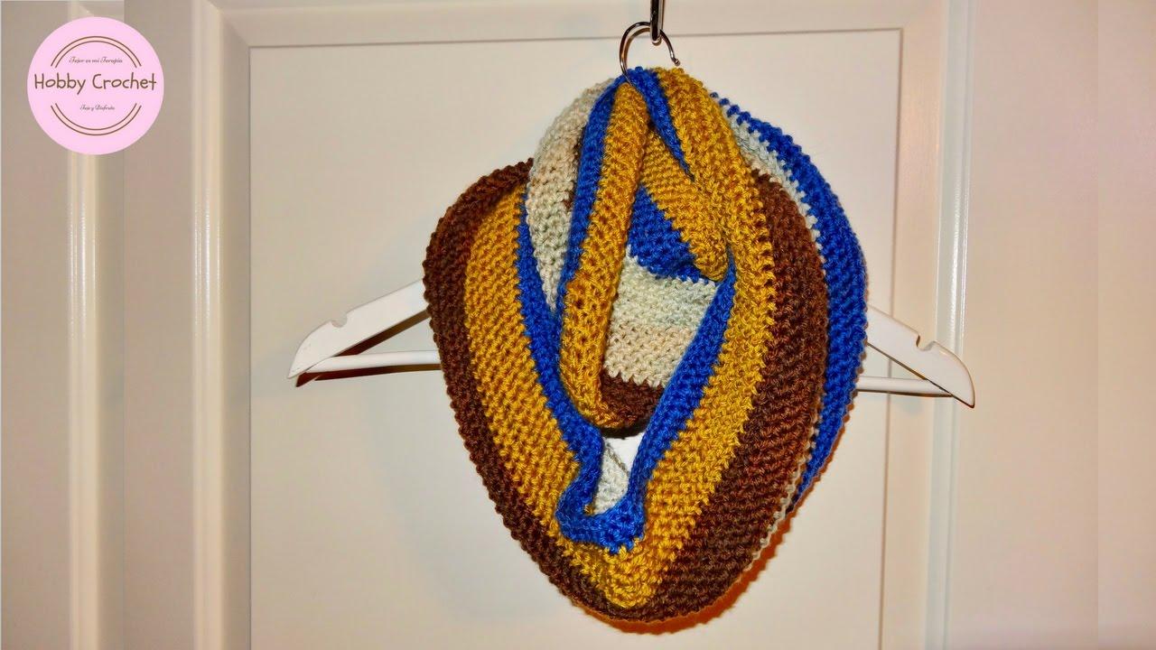 Bufanda infinita o circular a crochet, paso a paso. - YouTube