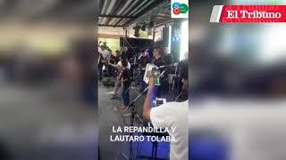 Lautaro Tolaba se animó a cantar con Oscar de La Repandilla y la rompió