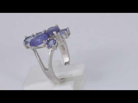 Серебряное кольцо с натуральным танзанитом