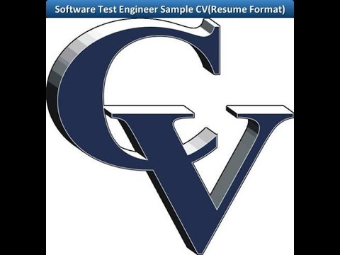 Software Test Engineer Sample CV(Resume Format) - YouTube