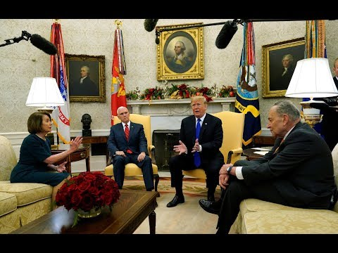 Trump temper tantrum: President spars with Pelosi, Schumer in Oval Office border debate