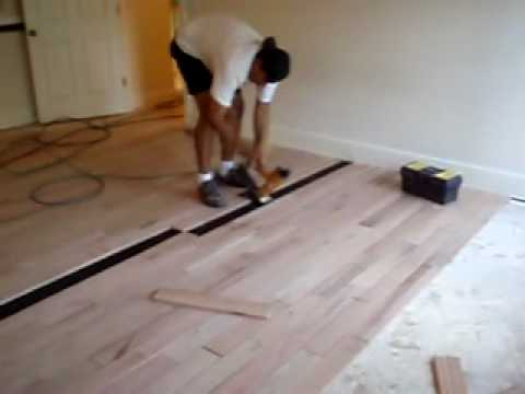 hardwood floor installation - youtube