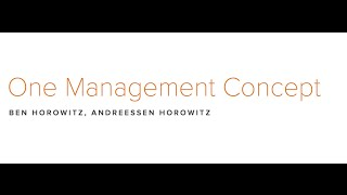 lecture 15 how to manage ben horowitz