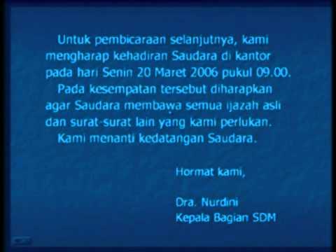 Ujian Nasional Bahasa Indonesia Surat Lamaran Pekerjaan