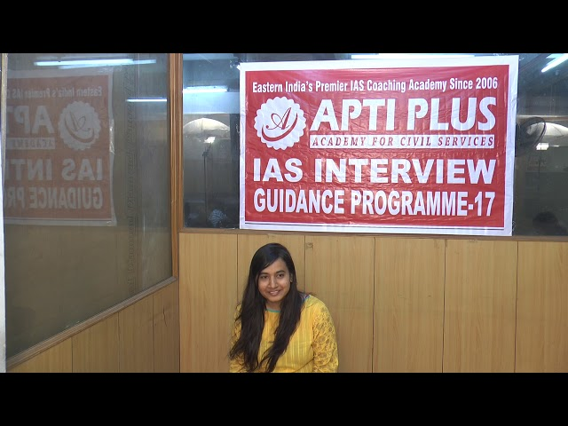 Mock Interview Of Miss Monika Yadav AIR-403,IAS-2017
