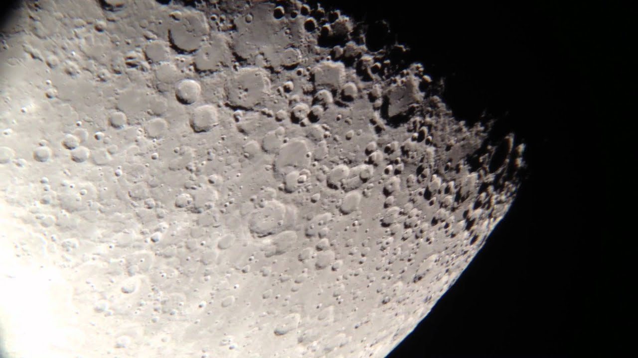 Very close up look at the moon through my telescope youtube - Moon close up ...