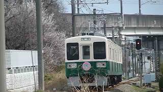 上信電鉄700形 南高崎駅付近通過(元・JR東日本107系)[警笛あり]