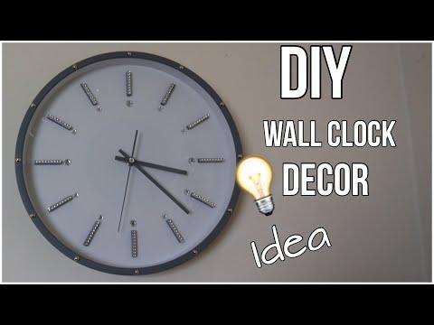 DIY wall clock decor