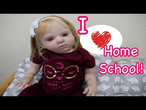 Silicone Baby Big Sister Reborn Kid Emily Loves Homeschool!
