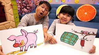 Bé Bún Tô Màu Bánh Chưng Hoa Đào – Bố Bé Bún Tô Màu Con Lợn