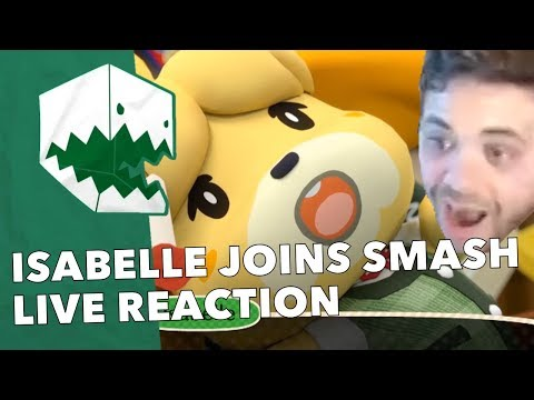 Hungrybox reacts to Isabelle joining Super Smash Bros. Ultimate! Nintendo Direct Live Reaction
