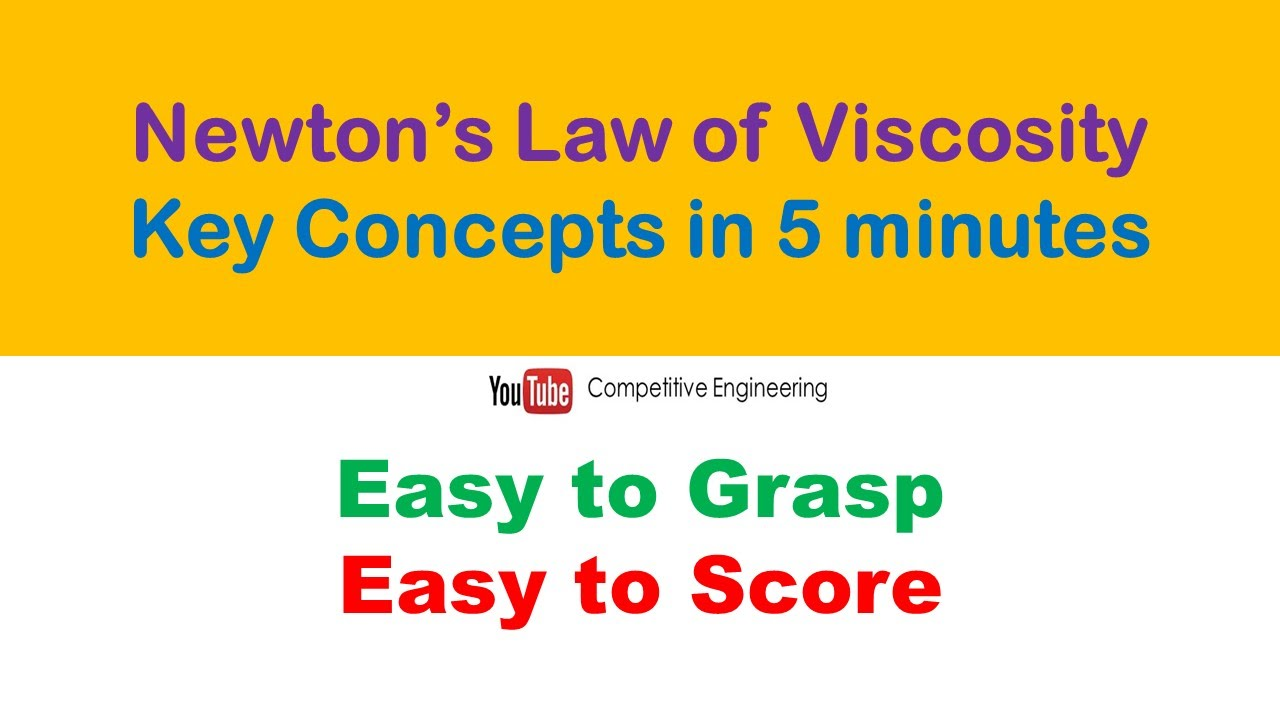NEWTONS LAW OF VISCOSITY KEY CONCEPTS IN 5 MINUTES  FLUID ...