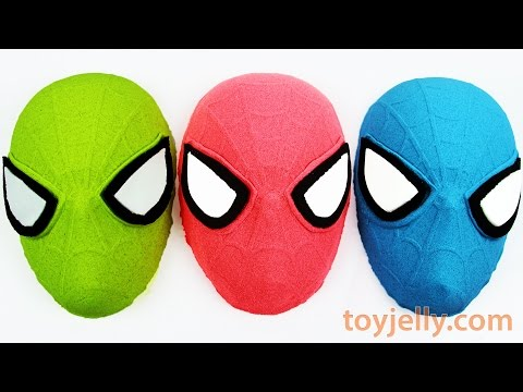 DIY Kinetic Sand How To Make Spiderman Mask Learn Colors Kinetic Foam Surprise Play Doh Peppa Pig