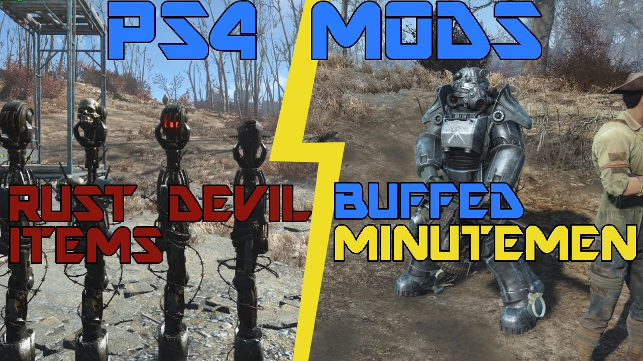 how to use mods fallout 4 ps4
