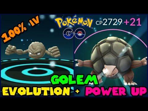 Evolving 100% IV GEODUDE to GOLEM + Power Up! (Pokemon Go Evolution)