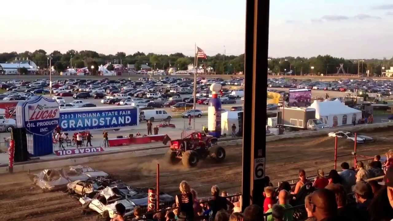 Monster Truck Show At Indy State Fair YouTube - Car show indiana state fairgrounds