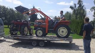 Załadunek traktorka kubota GL-21. Japoński ciągniczek ogrodniczy.www.traktorki-japonskie.waw.pl