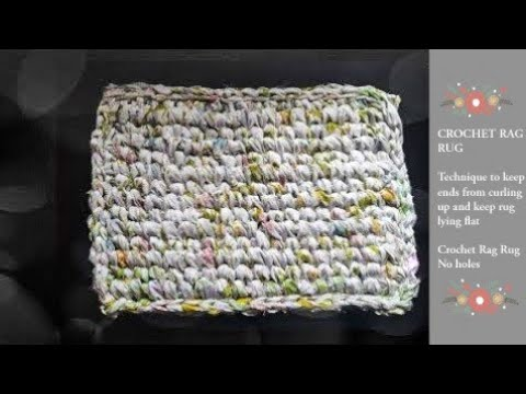 Crochet Knit Stitch Rag Rug. How to get