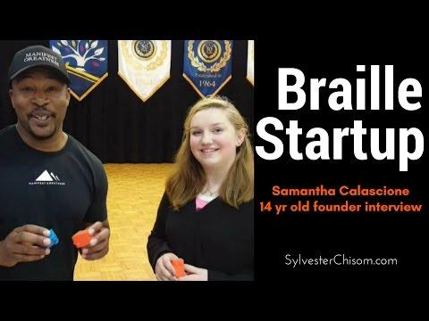 Teen Entrepreneur Starts Braille Reading Company