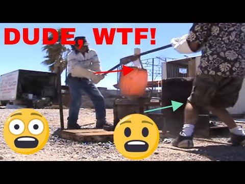 pouring a smelt a gold bar from ore material