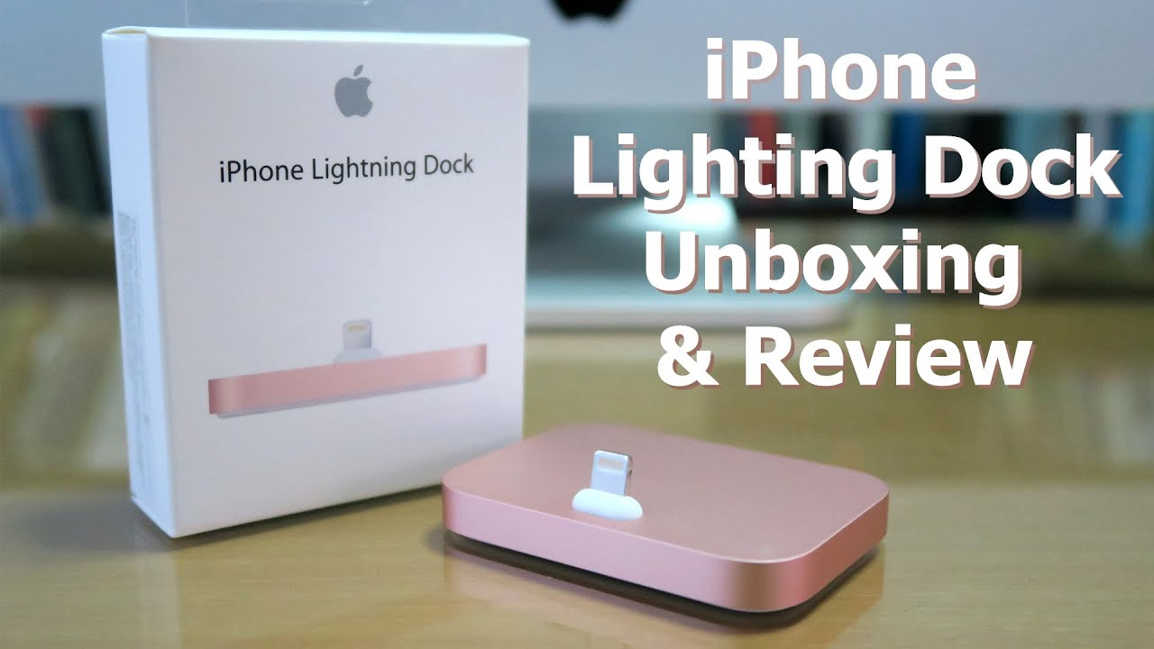 apple 2015 new iphone lighting dock gold unboxing 87890