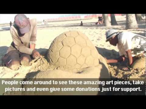 Soccer Sand Sculptures
