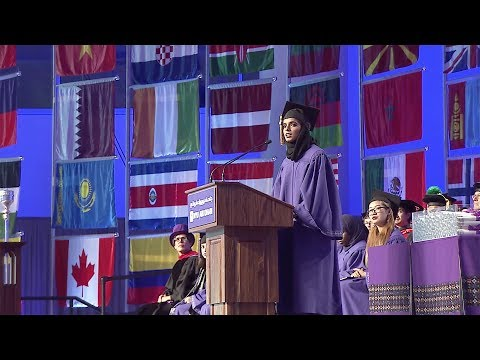 2017 Commencement Student Welcome by Dubai Abulhoul Alfalasi