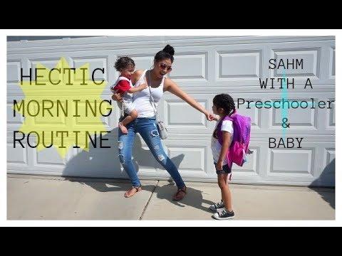 Morning Routine|SAHM W/a Preschooler & Baby!