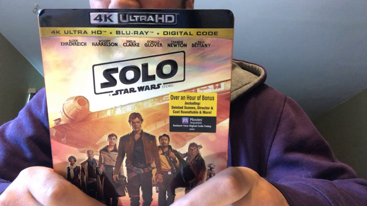 Solo A Star Wars Story 4K Ultra HD Blu-Ray Unboxing
