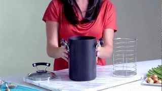 Contempo 3.5 Quart Asparagus Pot with Steamer - Cooking Pot - Circulon