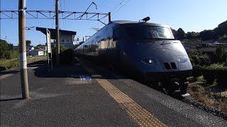 (1091)JR長崎本線 肥前大浦駅にて787系(特急かもめ5号)の撮影
