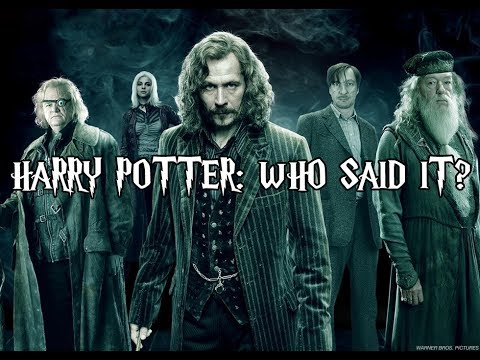 can you guess which harry potter character said this youtube. Black Bedroom Furniture Sets. Home Design Ideas