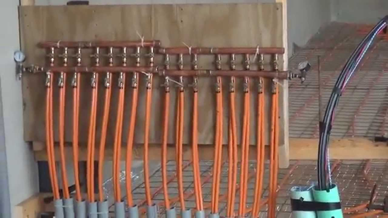 Radiant floor heat in a garage part 1 youtube solutioingenieria