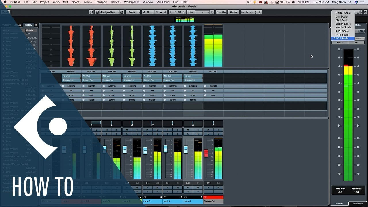 5 5 In Meters How To Customize And Configure The Different Meters In Cubase Q A With Greg Ondo
