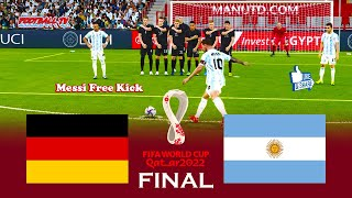 GERMANY vs ARGENTINA Final FIFA World Cup 2022 Match PES 2021 eFootball