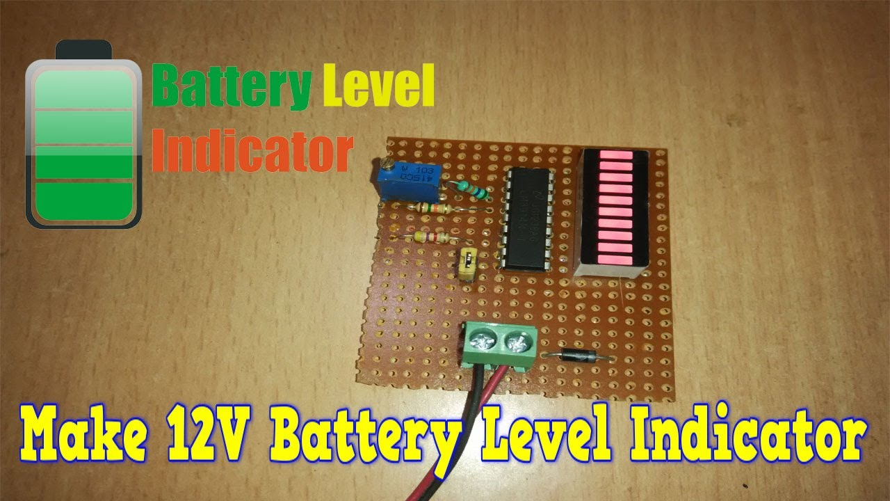 Simple 12v Battery Status Indicator Circuit Diagram