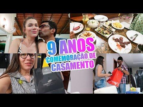 COMEMORAÇÃO 9 ANOS DE CASADOS  PRESENTES, JANTAR E MAIS