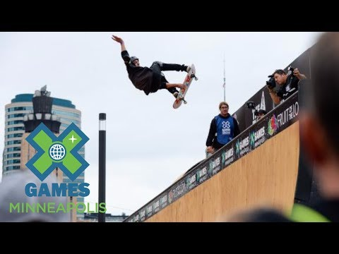 Mitchie Brusco wins Skateboard Vert bronze | X Games Minneapolis 2017
