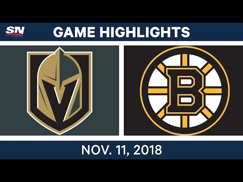 NHL Highlights | Golden Knights vs. Bruins - Nov. 11, 2018