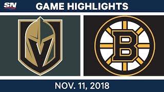 NHL Highlights | Golden Knights vs. Bruins - Nov. 11, 2018