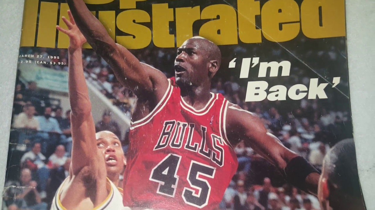avión jamón Escrupuloso  Sports illustrated March 20 1995 # 45 Michael Jordan I'm back Reggie Miller  Indiana Pacers Cover - YouTube