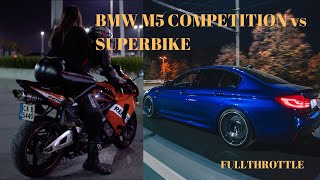 BMW M5 Competition vs Racing Bike | Bulgaria Night Drive | М5 Competition Review and Test Drive