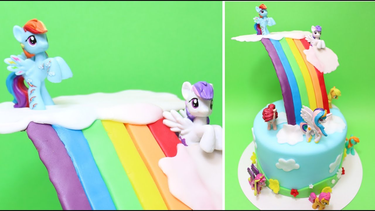 Rainbow Dash Cake Design